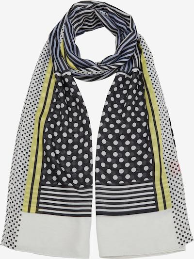 s.Oliver Schal in blau / gelb / schwarz / weiß, Produktansicht