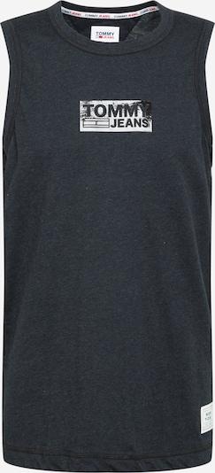 Tommy Jeans Shirt 'Tonal' in schwarzmeliert / weiß, Produktansicht