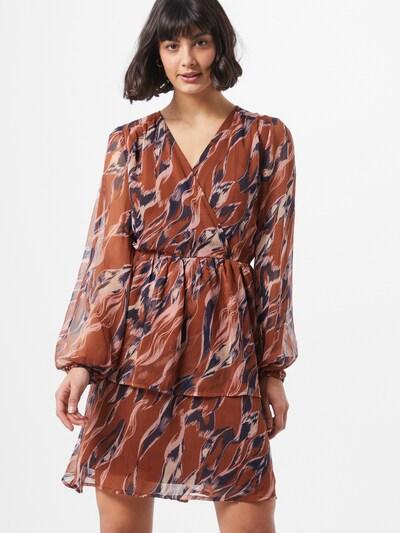 Y.A.S Kleid  'Astea' in beige / blau / braun, Modelansicht