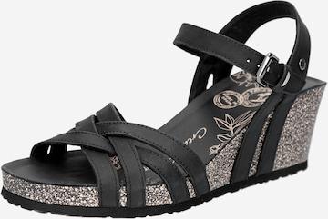 Sandale cu baretă de la PANAMA JACK pe negru