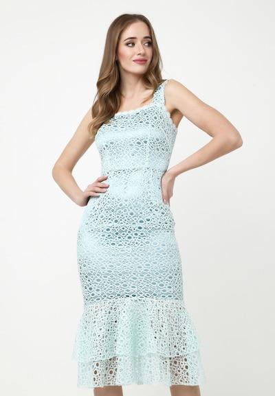 Madam-T Sommerkleid 'Fatina' in hellblau, Modelansicht