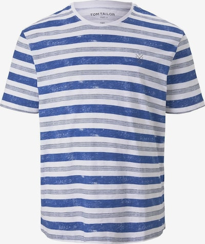 TOM TAILOR Men Plus Gestreiftes T-Shirt mit kleiner Stickerei in blau / weiß, Produktansicht