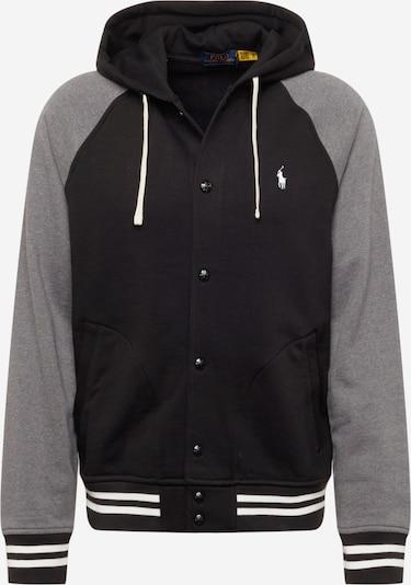 Polo Ralph Lauren Veste de survêtement en gris chiné / noir, Vue avec produit