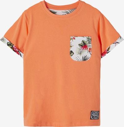 Tricou 'Fangem' NAME IT pe verde / portocaliu / roșu deschis / alb, Vizualizare produs