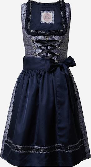 MARJO Dirndl 'Felicitas' w kolorze podpalany niebieski / ciemny niebieski / jasnoszary / czarnym, Podgląd produktu