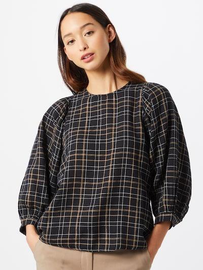 VERO MODA Bluse 'Flo' in braun / schwarz / weiß, Modelansicht