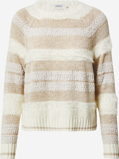 ONLY Pullover 'Adelle' in beige / offwhite, Produktansicht