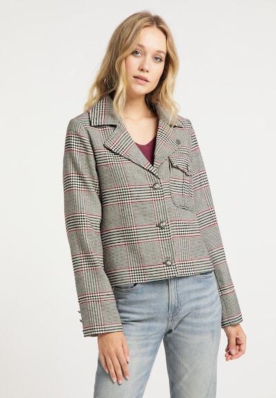 DreiMaster Vintage Blazer in grau / rot / schwarz, Modelansicht