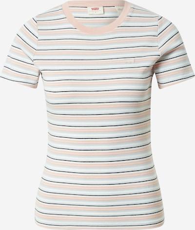 Tricou 'Baby' LEVI'S pe azur / roz pal / negru / alb, Vizualizare produs