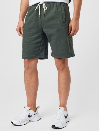 Nike Sportswear Hlače u boja pijeska / zelena melange / crna, Prikaz modela