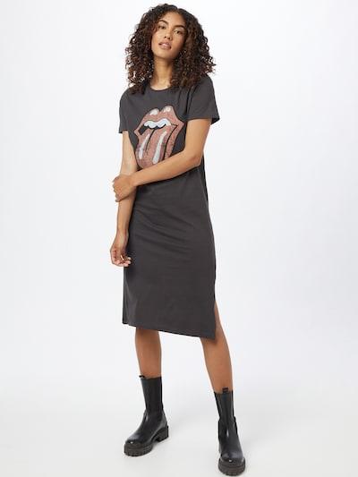 ONLY Kleid 'Rolling Stones' in anthrazit / rot / weiß, Modelansicht