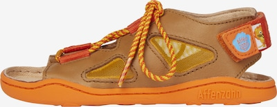Affenzahn Sandale  'LÖWE' in rot, Produktansicht