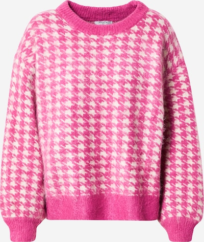 FRNCH PARIS Sweater in pink / white: Frontal view