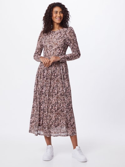 Freequent Kleid 'SANNIE' in sand / pink / burgunder / weiß, Modelansicht