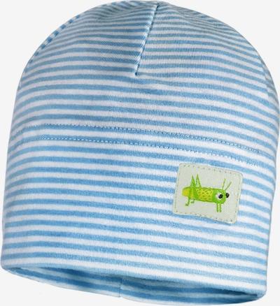 Megzta kepurė iš MAXIMO, spalva – mėlyna / balta, Prekių apžvalga