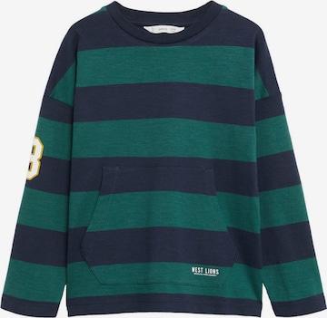 Tricou 'RUGBY' de la MANGO KIDS pe verde