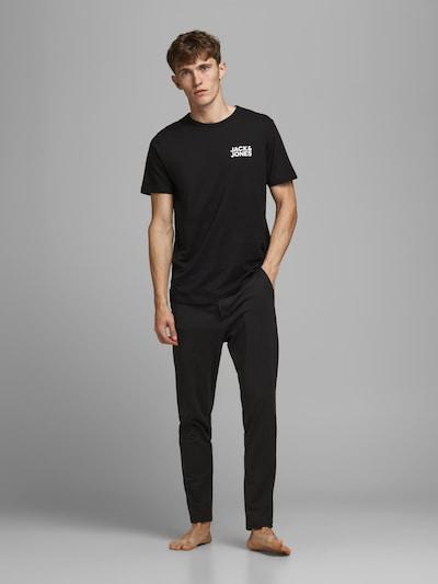 JACK & JONES Pyjama in schwarz / weiß: Frontalansicht