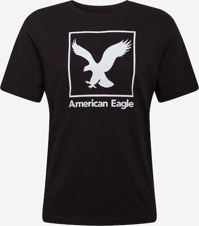 Tricou American Eagle pe negru / alb, Vizualizare produs