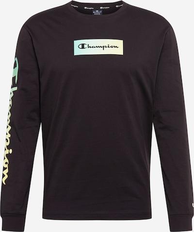 Champion Authentic Athletic Apparel Majica | svetlo rumena / svetlo zelena / črna barva: Frontalni pogled