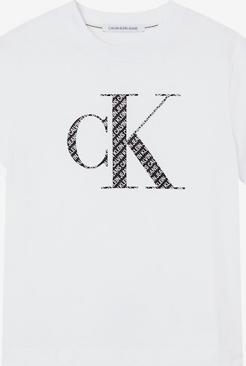 Calvin Klein Jeans Curve T-shirt en noir / blanc, Vue avec produit