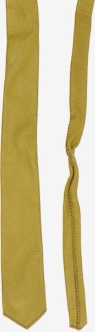 UNBEKANNT Leder-Krawatte in One Size in Beige