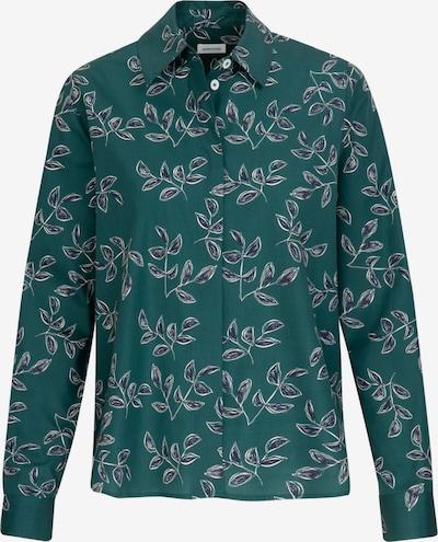 SEIDENSTICKER Bluse in dunkelblau / grün / weiß, Produktansicht