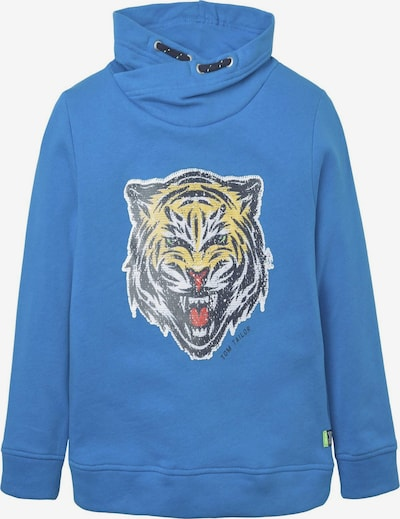 TOM TAILOR Sweatshirt in royalblau / gelb / weiß, Produktansicht