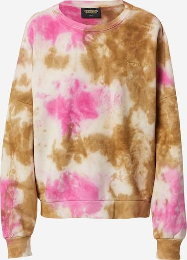 Colourful Rebel Sweatshirt in khaki / pink / weiß, Produktansicht