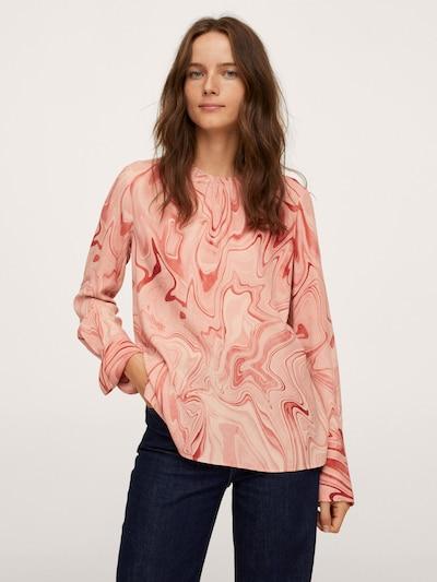MANGO Blouse 'Janeiro' in Beige / Dusky pink / Red, View model