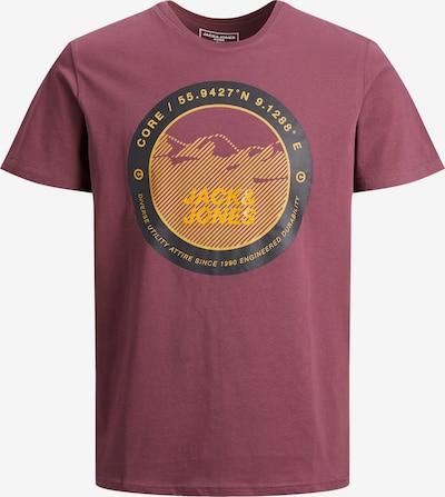 JACK & JONES Shirt 'Bilo' in gelb / anthrazit / pastellrot, Produktansicht