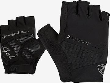 ZIENER Athletic Gloves 'CLAERA' in Black