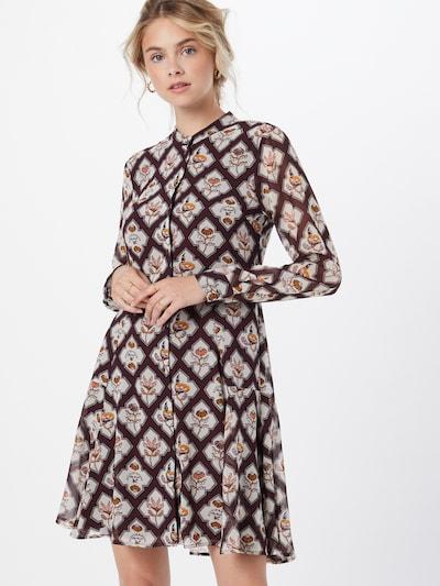 SCOTCH & SODA Kleid in braun / hellbraun / grau, Modelansicht