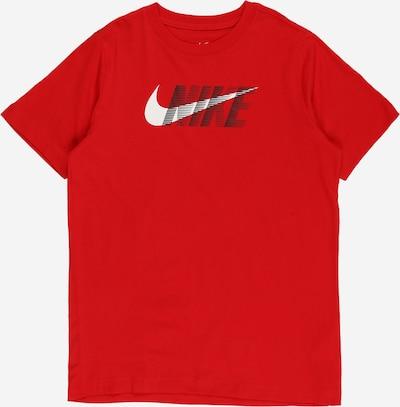 NIKE Functioneel shirt in de kleur Rood / Zwart / Wit, Productweergave