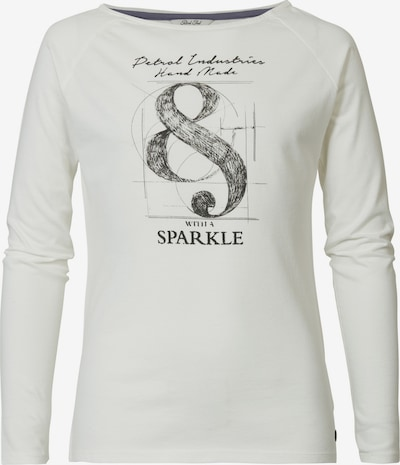 Petrol Industries Langarmshirt in schwarz / weiß, Produktansicht