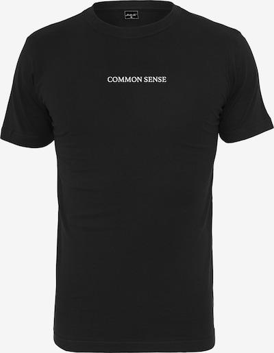 Merchcode T-Shirt 'Common Sense' in schwarz / weiß: Frontalansicht