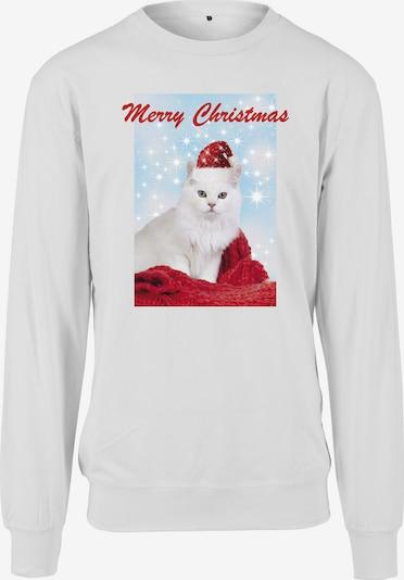 Merchcode Sweat-shirt 'Merry Christmas Cat' en mélange de couleurs / blanc, Vue avec produit