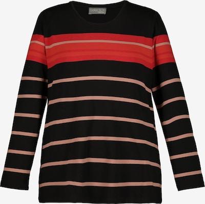 Ulla Popken Shirt in de kleur Pastelroze / Rood / Oranjerood / Zwart, Productweergave