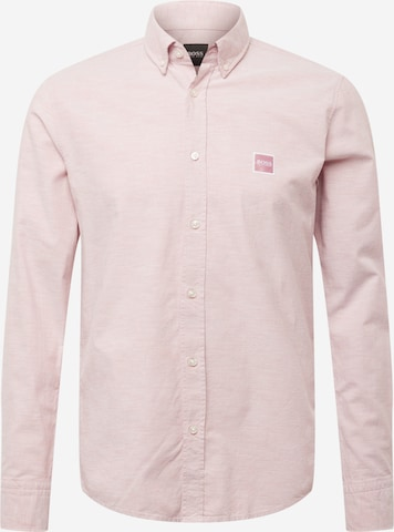 BOSS Casual Hemd 'Mabsoot' in Pink