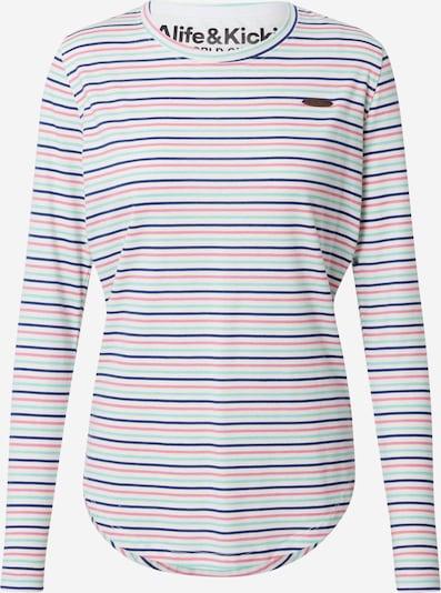 Alife and Kickin T-shirt 'Lea' en turquoise / bleu violet / rosé / blanc, Vue avec produit