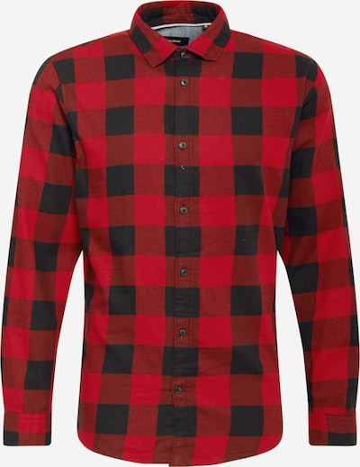 JACK & JONES Koszula 'EGINGHAM' w kolorze rdzawoczerwony / czarnym, Podgląd produktu