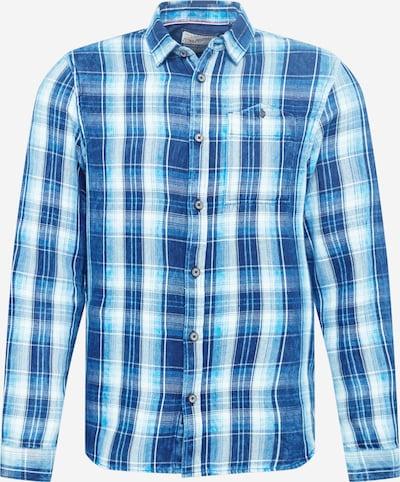 Petrol Industries Camisa en azul cielo / azul claro / azul oscuro / blanco, Vista del producto