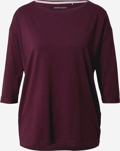 ESPRIT SPORT Functioneel shirt in de kleur Bordeaux, Productweergave