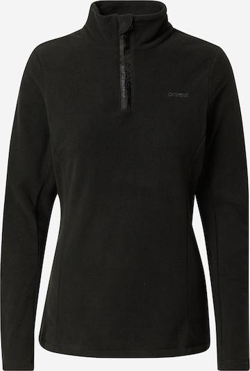PROTEST Functionele fleece jas 'MUTEZ' in de kleur Zwart, Productweergave