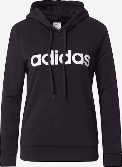 ADIDAS PERFORMANCE Sweat de sport 'Essentials Linear' en noir / blanc, Vue avec produit