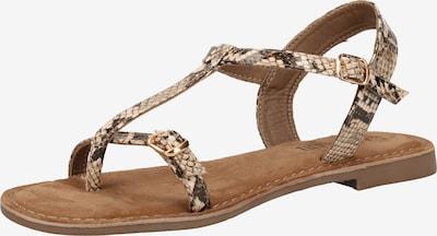 LAZAMANI Sandalen in beige / braun / schwarz, Produktansicht