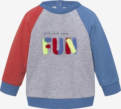 TOM TAILOR Sweatshirt in blau / grau / rot: Frontalansicht