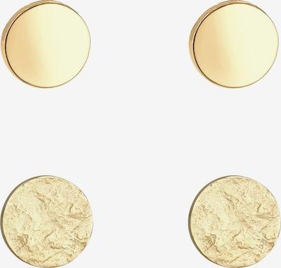 ELLI Ohrringe Basic Ohrstecker, Geo, Kreis, Textured in gold, Produktansicht