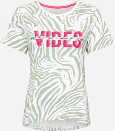 Tricou Key Largo pe verde / roz / alb, Vizualizare produs