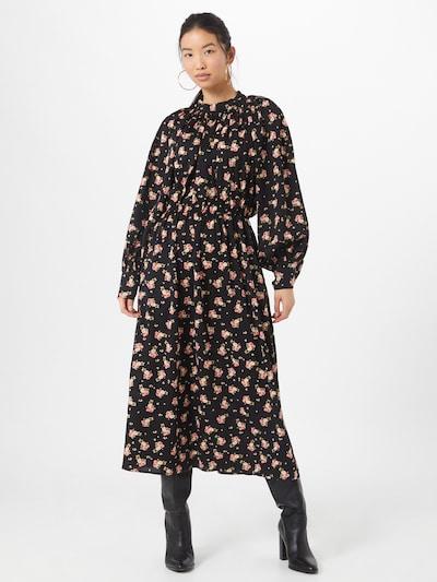 Louche Kleid 'Neima Rose' in blau / navy / khaki / weiß, Modelansicht