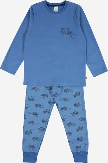 SANETTA Pyjama in marine / rauchblau / himmelblau, Produktansicht